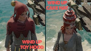 Wind Up Cake Hat and Wind Up Toy Hood