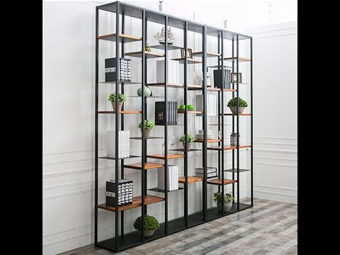 Simple modern iron shelf, multi-storey rack, storage rack, living room partition office shelf