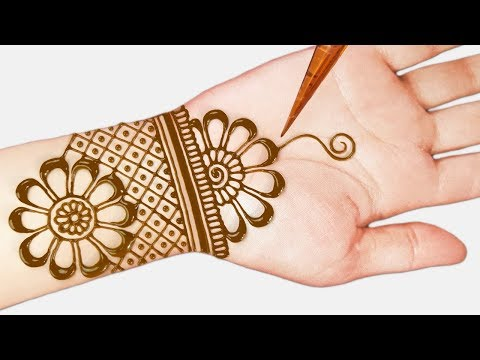Easy mehndi designs - Easy beautiful mehndi designs for hands - simple henna designs 2019