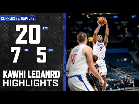 Kawhi Leonard (20 PTS) Scores Efficiently vs. Toronto Raptors   LA Clippers