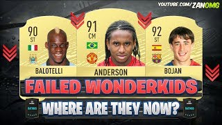 BIGGEST FAILED WONDERKIDS IN FIFA HISTORY!! 😱🔥 - WHERE ARE THEY NOW?
