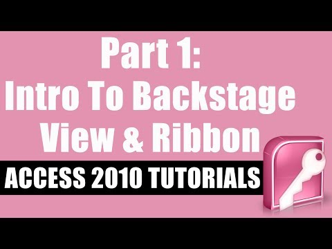 Microsoft Access 2010 Tutorial for Beginners - Part 1 - Intro to ...