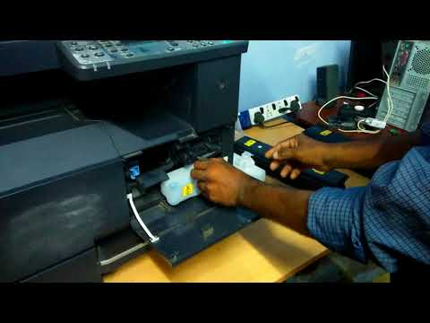 how to refill Kyocera Taskalfa 1800 toner cartridge (For