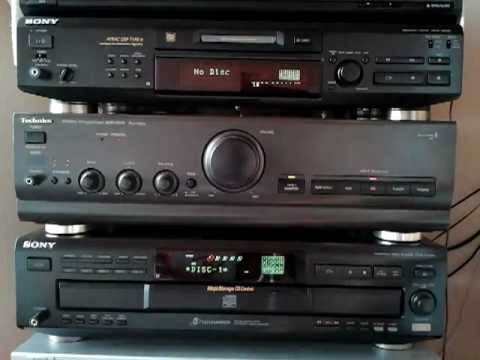 Easy CD copy to MiniDisc with CD-TEXT, Sony Control A1, MDS-JE530 + CDP-CE525