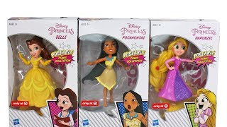 Disney Princess Poseable Comic Collection Belle, Pocahontas and Rapunzel Unboxing Toy Review