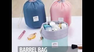 Barrel Cosmetic Bag