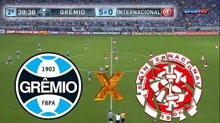 GRENAL 407 - Grêmio 5 X 0 Internacional - Melhores Momentos - Campeonato Brasileiro 2015