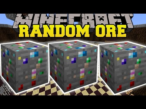 Minecraft: RANDOM ORE MOD (LUCKY ORE THAT CRAFTS UNBELIEVABLE ITEMS!) Mod Showcase
