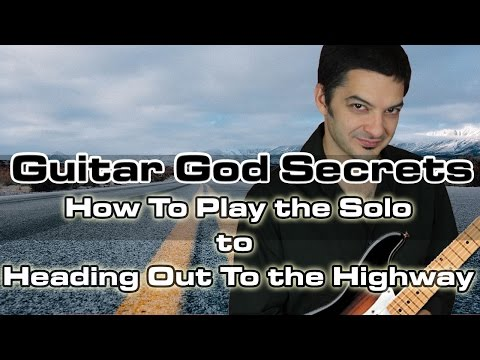 How To Play Heading Out To the Highway (Solo!) - Free Guitar Lessons