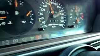 Mercedes W124 E60 AMG auf Deutschen Autobahn