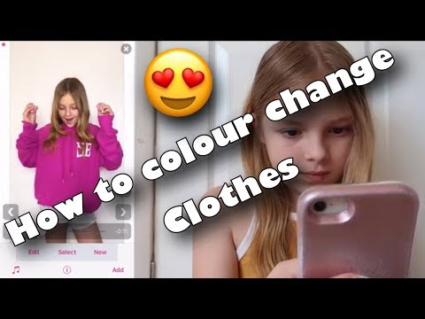 How to Colour Change clothes