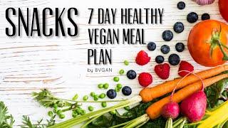 SNACKS - 7 DAY HEALTHY VEGAN MEAL PLAN