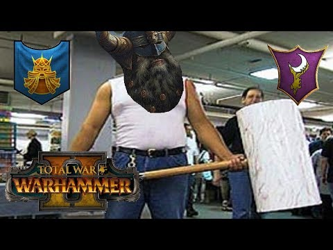 Dwarfs vs Dark Elves | LIVE DWARF HAMMER TIME - Total War Warhammer 2