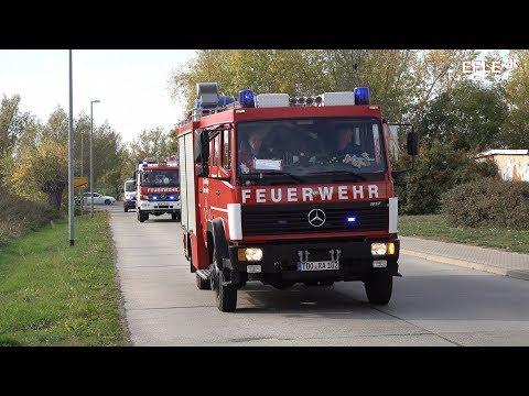 [Wohnungsbrand nach Explosion] Einsatzkräfte üben in Rackwitz