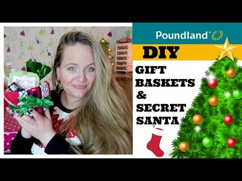 CHRISTMAS POUNDLAND HAUL/ DECEMBER / DIY GIFT BASKET IDEAS/ STOCKING FILLERS / SECRET SANTA
