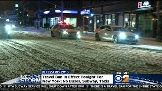 Driving Banned In New York As Storm Arrives