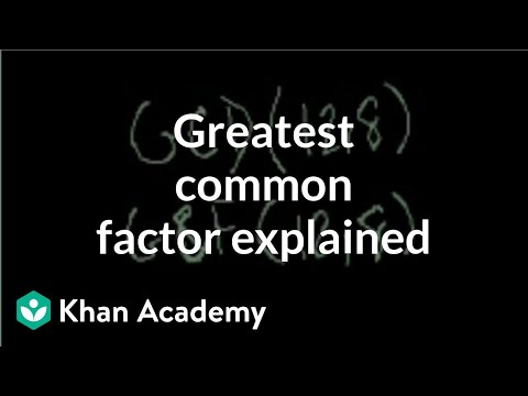 Greatest common factor (GCF) explained | Arithmetic (video