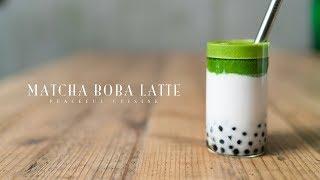 Matcha Boba Latte ☆ タピオカ抹茶ラテの作り方