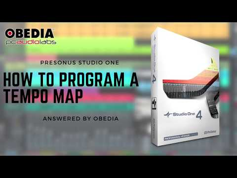 Get started with Studio One: How to program a Tempo Map in #StudioOne