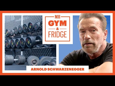Download Arnold Schwarzenegger Shows His Gym & Fridge | Gym & Fridge | Men's Health HD Mp4 3GP Video and MP3
