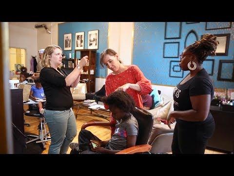 Salon teaches natural hair care classes for multiracial families ...