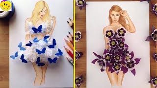 Armenian Fashion Illustrator Creates Stunning Dresses From Everyday Objects (Part 2)