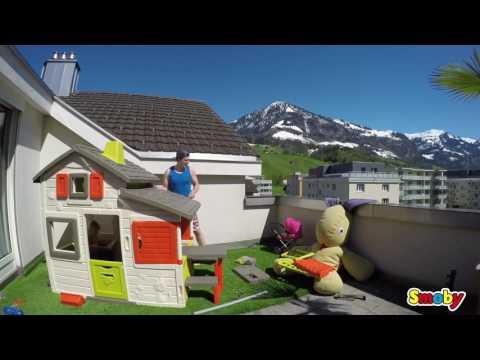 Sommerküche Smoby : Smoby spielhaus natur mit sommerküche bei preis ab u ac