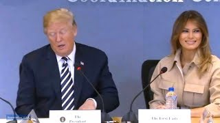 President Trump and First Lady Melania Trump visit Federal Emergency Management Agency Headquarters