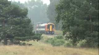 preview picture of video 'DMUs at Santon Downham August 2008'