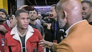 Devin Haney CONFRONTS Bernard Hopkins BACKSTAGE After Ryan Garcia WIN!