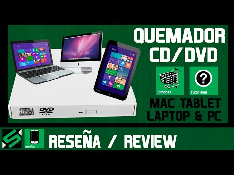 Quemador de DVD para Tablet, PC o MAC - Reseña Tutorial