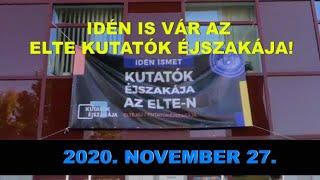 Kutatók Éjszakája az ELTE-n 2020 – FAVORIT2020 / HUNGARY