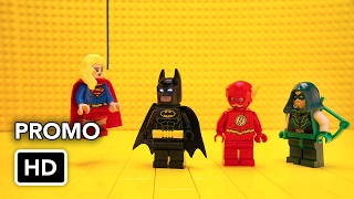 LEGO Batman meets CW Superheroes - Flash, Arrow, Supergirl, Atom