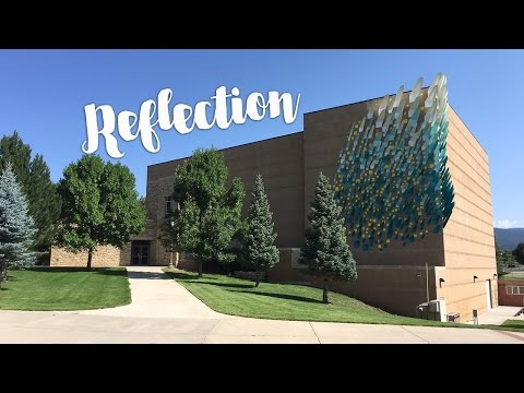 """Public art installation of """"Reflection"""" at Fort Lewis College Community Concert Hall"""