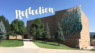 "Public art installation of ""Reflection"" at Fort Lewis College Community Concert Hall"