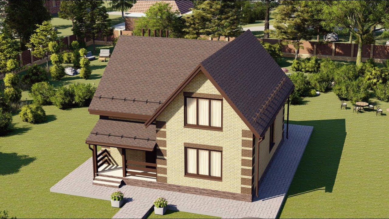 Проект дома 146-C, Площадь дома: 146 м2, Размер дома:  12,3x12,9 м