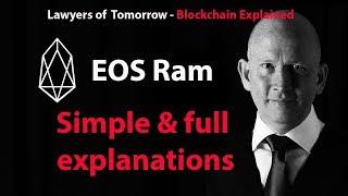 EOS RAM simple explanation EOS RAM system