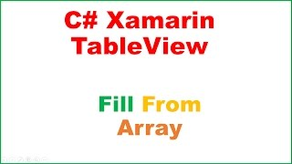 Xamarin Android TableView Ep.01 : Fill From Array,OnRowClick
