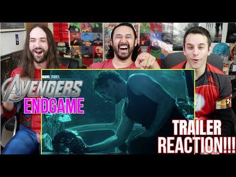 Marvel Studios' AVENGERS: ENDGAME - Official TRAILER REACTION!!! (видео)