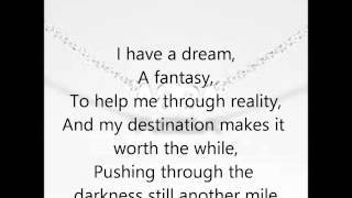 Abba- I Have A Dream Lyrics