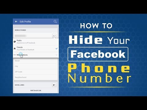 How to Hide Mobile Number on Facebook App