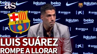 No pudo ni arrancar: Luis Suárez se derrumbó antes de comenzar a hablar | Diario AS
