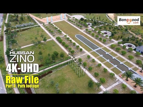 HUBSAN ZINO H117s 4K UHD drone -Part 4: 4K raw video of park footage