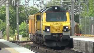 preview picture of video 'WCML Freight at Wigan 05 July 2012'