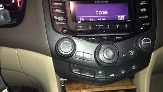 How to put the code in on (2005 Honda Accord hybrid) radio