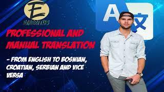 I will translate from English to Bosnian, Croatian or Serbian