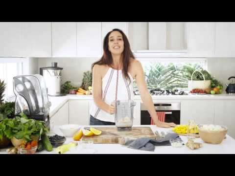 Video Janine Allis making Boost Juice recipes - Mango Mirage