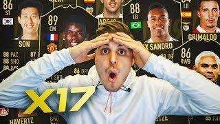LLUVIA DE CAMINANTES ESPECIALES!!   ABRIENDO 17 SOBRES DE IF ASEGURADO!!   FIFA 19