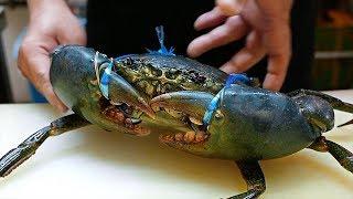 Makanan Jalanan Jepang - Besar Sekali Kepiting Lumpur Kue Kepiting Cabai Makanan Laut Jepang