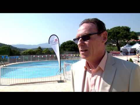 Naming of the Princess Charlene swimming pool in La Turbie